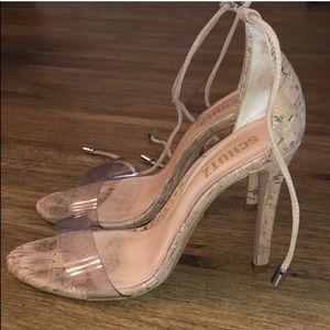 SCHUTZ Shoes - Schutz Clear Strap Heel